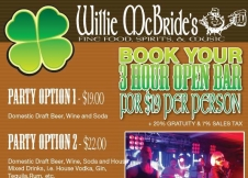 Willie McBride's Party Packages