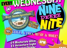 90's Nite every Wed at Bar A Beach Bar